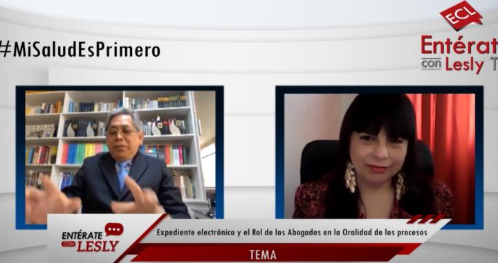 Entrevista a Javier Magallanes Mendoza sobre expediente electrónico y las habilidades de los abogados con la técnica de la oralidad en los  proceso judiciales