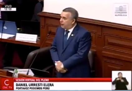 Congresista Daniel Urresti le pide disculpas al Presidente Martín Vizcarra por su desatinadas palabras al referirse cuál sería la tendencia sexual del mandatario