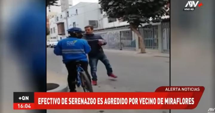 AL SERENO SE LE RESPETA: un ciudadano  golpea a sereno por pedirle que se ponga la mascarilla , lo que motivó el rechazo de los vecinos aledaños