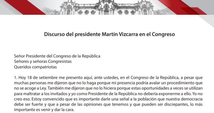 """Vacancia presidencial: Martín Vizcarra  """"Me dijeron que no me presente, es inconstitucional, hay que dar señal de democracia"""" contradicciones."""