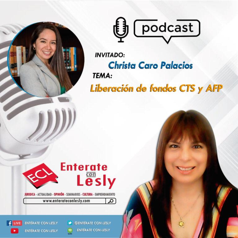 Entrevista a CHRISTA CARO PALACIOS: Liberación de Fondos AFP y CTS para aliviar la economía en tiempos de crisis pandemia
